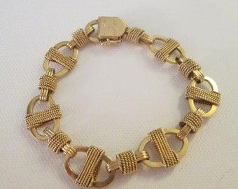 14k yellow gold custom charm bracelet