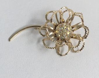"Vintage ""Sarah Coventry"" Large Flower Brooch."