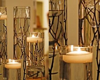 LED Floating Waxed Candle Flame less Floating Candle White 6 pcs