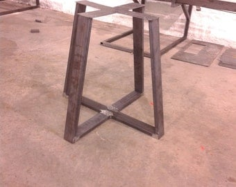 Steel Table Base - Industrial Metal Tapered Style - Any Size/Color!
