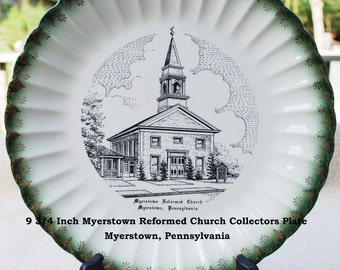 Vintage Myerstown Reformed Church Collectors Plate - 9 3/4 Inch By World Wide USA