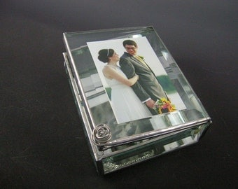 Beveled Glass Photo Box
