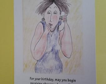 Funny birthday card, love card