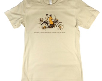 Harold & Maude Sand T-Shirt feat. Cat Stevens song lyrics If You Want To Sing Out Sing Out