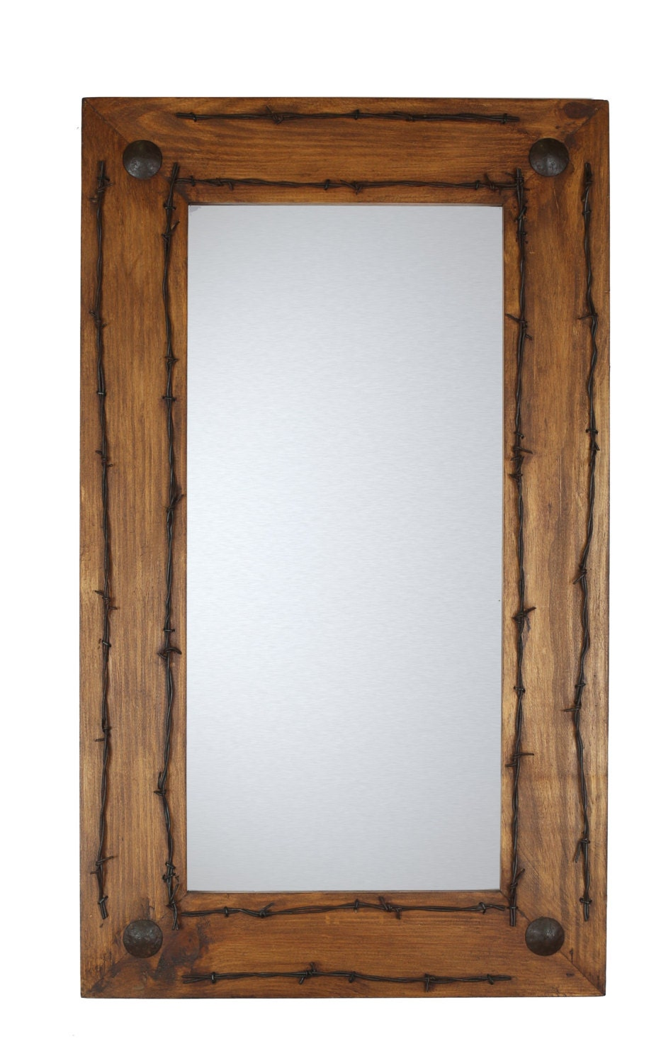 western bathroom mirrors ranch rustic barbed wire mirror mexican 20x34 15039