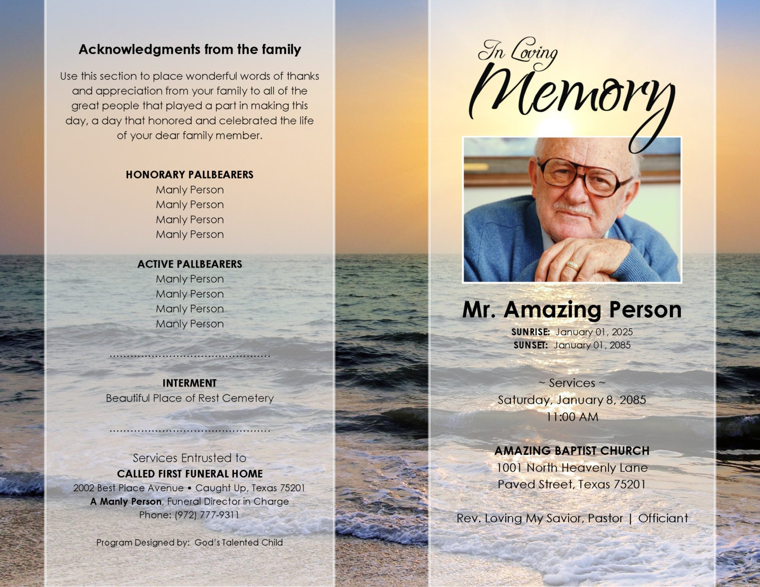 Announcement Template Word private memorial or funeral archives – Funeral Announcements Template