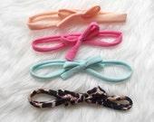 Set of four tie headbands