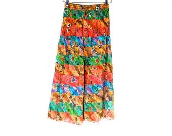Vintage 80s Skirt 12 Tier Long Zashi New Old Stock