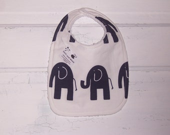Navy Elephant Baby Boy Bib !  FREE SHIPPING !!!!!!