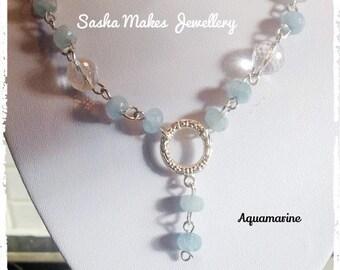 Quartz and Aquamarine necklace