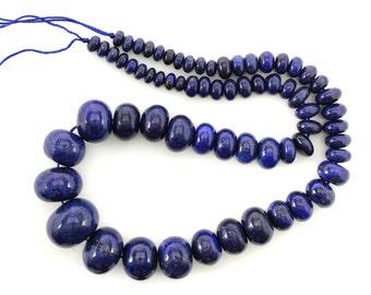 Lapis lazuli,Graduated Rondelle,6MM-20MM,GEM020440