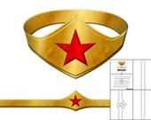 Template for Wonder Woman Tiara