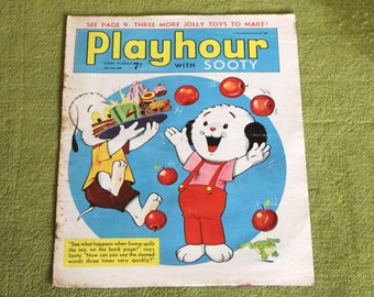 Gorgeous Vintage Sooty Newspaper Comic 16th July 1966