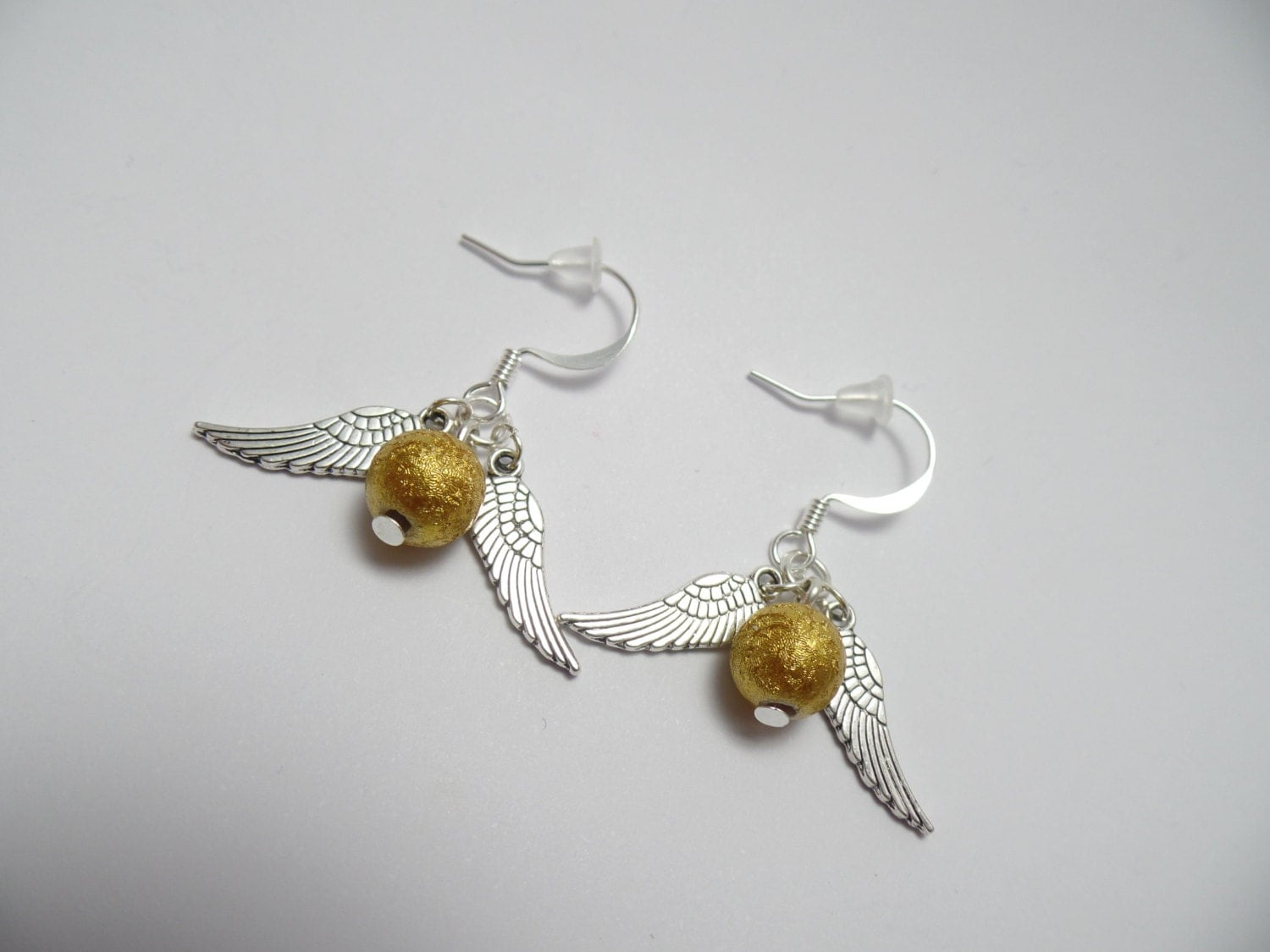 golden snitch earrings harry potter inspired golden snitch earrings 9484