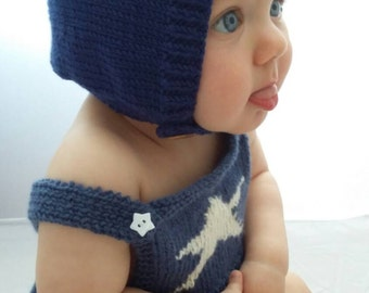 Toddler hat, Knit baby hat, pixie cap, pixie hat, baby present, new baby gift, baby hat, knitted cap, baby gift, 1-2 years, made to order