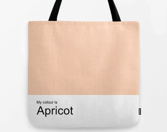 Apricot women tote bag, shoulder bag,school bag,shopping bag,tote,hand bag,canvas bag,colour bag,colour tote,woman bag