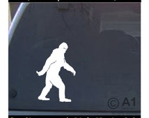 Bigfoot, sasquatch, yeti, car wall decal sticker, Free shipping in USA, high quality, many colors and sizes,4 laptop vehicle tablet more 4a
