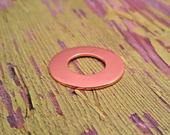 Copper 1 inch Washer 1/2 inch Center Stamping Blanks - Copper Blanks