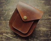 Handmade veg tanned leather possibles pouch/belt bag *Made to Order*