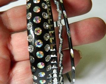 group of sparkling  bangle bracelets