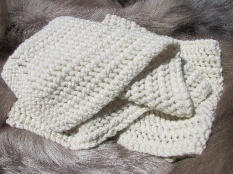 Knitting Pattern For Alpaca Scarf : Hand Knit Wool and Alpaca Scarf
