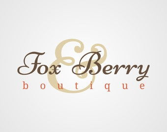 Premade Logo, Boutique Logo, Boutique Logo Design, Typography Logo, Custom Business Logo