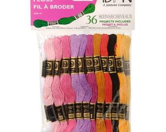 Cotton Floss - Pastel Colors - 36 skeins