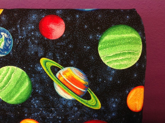 Handmade Solar System Planets Toddler Bed Sheet Set With
