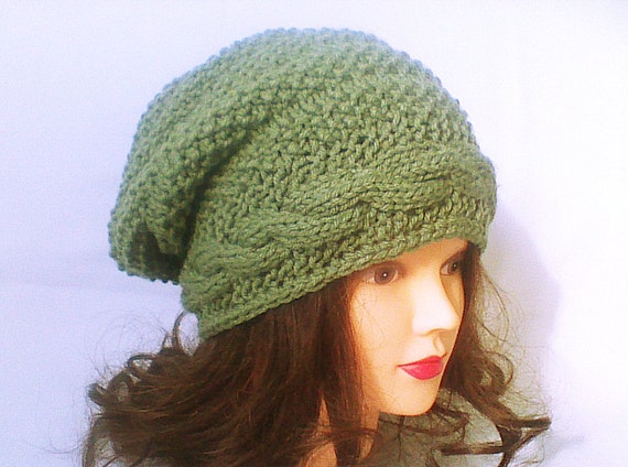 knit beanie cable slouchie hat cool knit trending