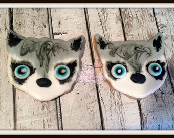 Raccoon Decorated sugar cookies -1 dozen