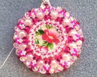 Pretty in Pink Flower Pendant