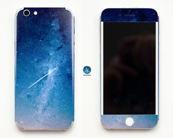 Blue Stars Galaxy iPhone Skin iPhone decal iPhone sticker for iPhone 4, iPhone 4s, iPhone 5, iPhone 5s and iPhone 6 Space Stardust Stars