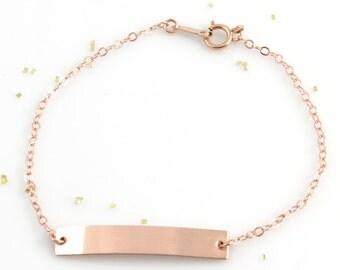 Personalized Bracelet | Rose Gold Bracelet | Rose Gold Bracelet Personalized | Handmade Jewelry | Dainty Bracelet | Gifts For Her