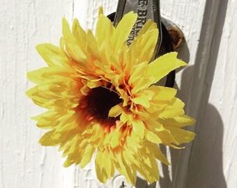 Sunflower Hair Tie, Sunflower Elastic, Sunflower Hair Accessories