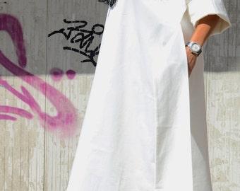 Loose dress women, beige day dress, oversize dress, plus size top tops, summer plus size, loose cream dress, plus size dress, linen dress