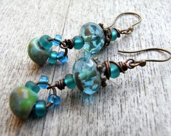 Watergreen - Playful earrings with all the beauty of czech glass beads