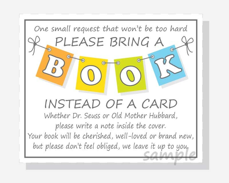 printable baby shower book request book instead of card