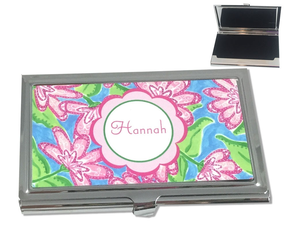 Personalized womens business card case custom by for Business cards for women