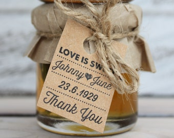 Mini Jam Jar Wedding Favours / Bonbonniere / Favors
