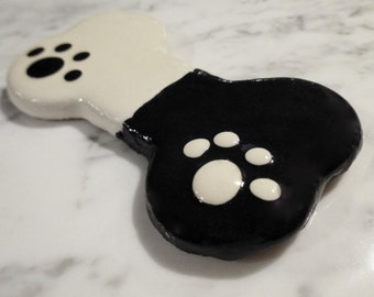 Gourmet Dog Treat: Homemade Ebony and Ivory Dog Bone