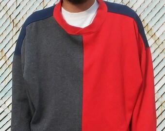 CHEETAH brand color blocked sweatshirt sz-xl