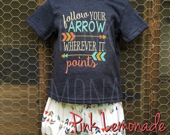 arrow outfit, darby shorts, bloomer shorts, follow your arrow