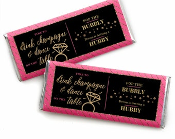 24 Girls Night Out - Personalized Candy Bar Wrappers Bachelorette Party Favors
