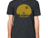 "GP101 ""Hello.Moon."" Graphic printed on Men's American Apparel t-shirt"