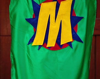Boys PERSONALIZED SUPERHERO CAPE - Superhero Gift - Preschool Boy Cape - Quick Shipping