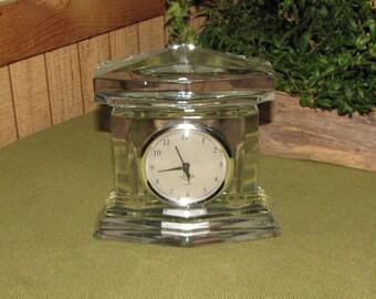 Vintage Crystal Monument Mantel Clock Lenox Ovations Line