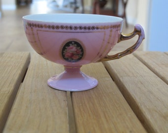 Vintage Epiag Czechoslovakian cup, pink, roses-free shipping