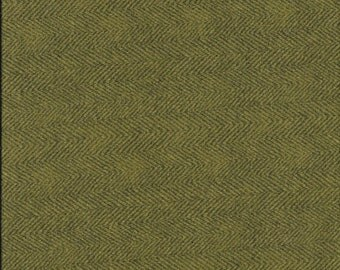 45'' Maywood Studios Olive Green Herringbone Woolies Flannel MASF 1841-G by the Yard