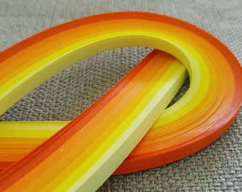 5mm Paper Quilling Strips Shades of Yellow, 540mm