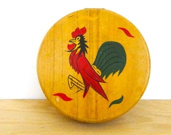 Vintage Hamburger Press with Rooster